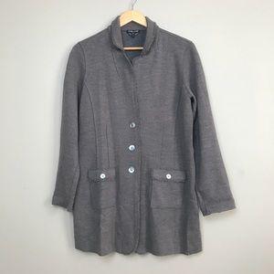 Eileen Fisher Merino Wool Felted Long Jacket PL